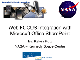 WebFOCUS Integration with Microsoft Office SharePoint