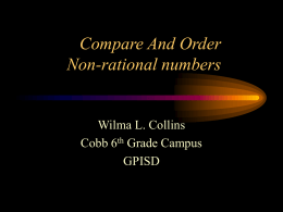 Compare And Order Non-rational numbers