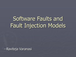 Software Faults and Reliability