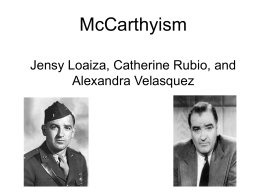 McCarthyism Model Powerpoint - North Bergen School District