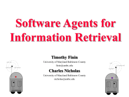 Software Agents for Information Retrieval