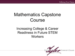 Math Capstone Course - John Tyler Community College
