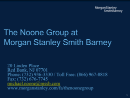 The Noone Group - Morgan Stanley Locator
