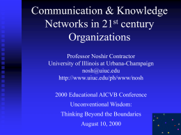 Communication through knowledge networks