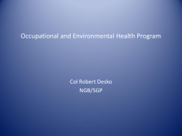 Desko–Occupational and Environmental Health Program