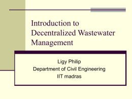Introduction to Decentralized waste