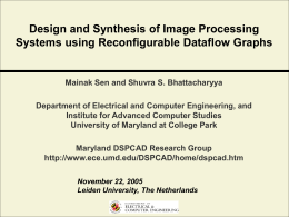 Design and Synthsis of Image Processing Systems