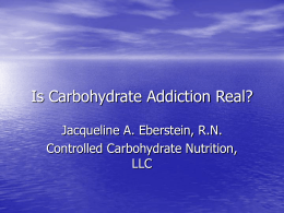 Is Carbohydrate Addiction Real? - Low
