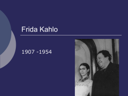 Frida Kahlo - Earlston High School