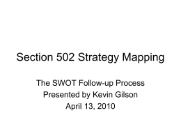 Section 502 Strategy Mapping