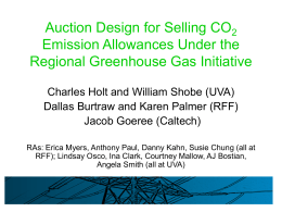 RGGI Auction Experiments - Regional Greenhouse Gas Initiative