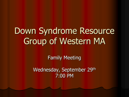 Down Syndrome Resource Group of Western MA