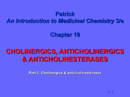 12. Cholinergic Antagonists (Muscarinic receptor)