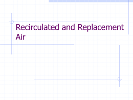 Recirculated And Replacement Air Presentation