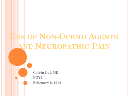 Use of Non-Opioid Agents and Neuropathic Pain
