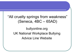 UK National Workplace Bullying - INTO