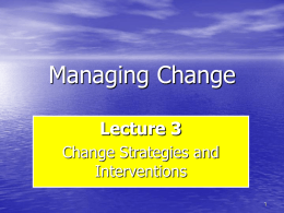 MC -Chapter 3 Managing Change