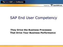 SAP end-user competency