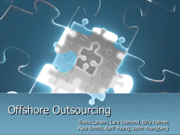 Outsourcing/Offshoring