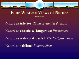 Major Western views of Nature