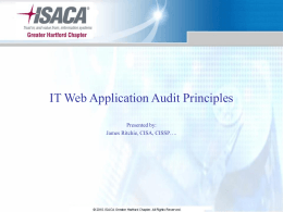 IT Application Audit Principles