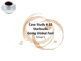 Starbucks Case Study Background