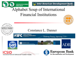 International Financial Institutions Overheads