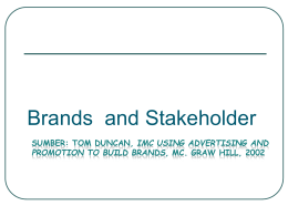 3. Brands and Stakeholder