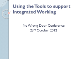 Using the Tools of Integrated Working