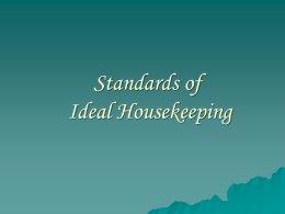 Standards of Ideal Housekeeping