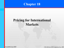 Ch 18 International Pricing