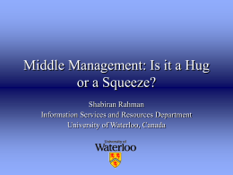 Middle management in libraries - Purdue e-Pubs