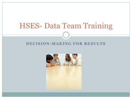 HSES- Data Team Training