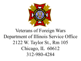 Pension Benefits - VFW Department of Illinois Service Office