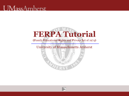 FERPA Tutorial (Family Educational Rights and