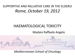 Linee guida AIOM 2009 - Mediterranean School Of Oncology
