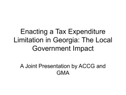 The Local Government Impact of Enacting a Tax