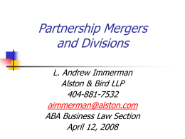 Partnership Mergers and Divisions