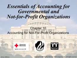 Essentials of Accounting for Governmental and Not-for