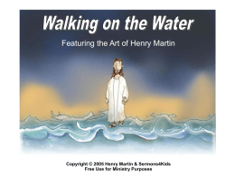 Walking on the Water PowerPoint Presentation