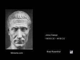 Julius Caesar - Shakespearescrapbooks