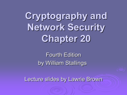 William Stallings, Cryptography and Network Security 4/e