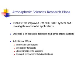 MM5 - UW Atmospheric Sciences