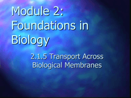 module 2 2.1.5 transport across membranes student version