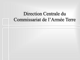 Direction Centrale du Commissariat de l`Armée Terre