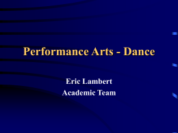 Performance Arts - Dance - Ashland Independent Schools