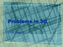 Problems in 3D