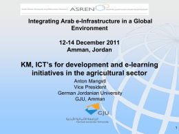 Dr. Anton Mangstl, KM, ICT s for development and e