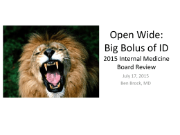 Internal Medicine Board Review: Infectious Diseases