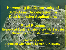 GPU - University of British Columbia